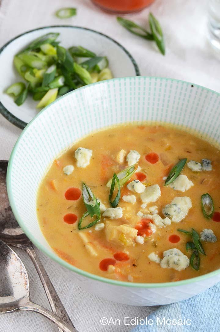 Close Up of Buffalo Chicken Soup Recipe