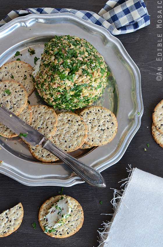 Date, Walnut, and Blue Cheese Ball 2