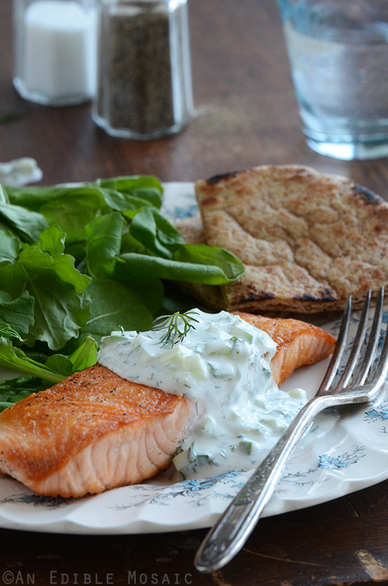 Seared Salmon with Tzatziki Sauce 3