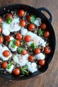 Ramadan Mubarak and Recipe for Ottolenghi's Braised Eggs with Lamb, Tahini, & Sumac