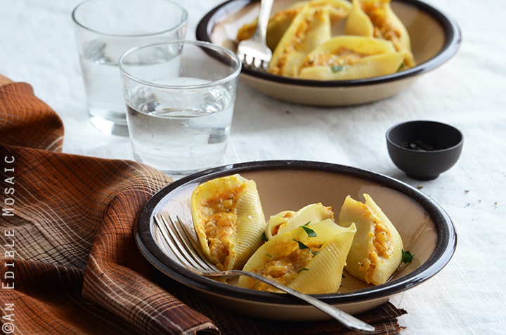 Savory Pumpkin and Cheese Stuffed Shells 4