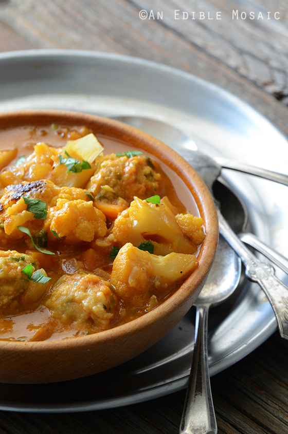Smoky Roasted Cauliflower Soup with Herbed Chickpea Dumplings 2