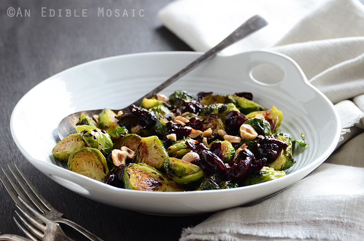 Caramelized Brussels Sprouts with Dark Cherry Sauce and Hazelnut 3