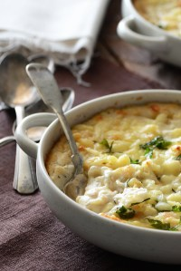 Cheesy Mashed Cauliflower Gratin {Grain-Free; Gluten-Free}