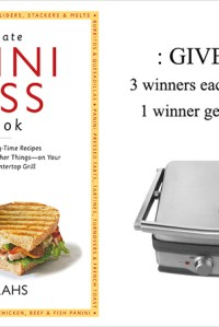 The Ultimate Panini Press Cookbook {Review and Giveaway}