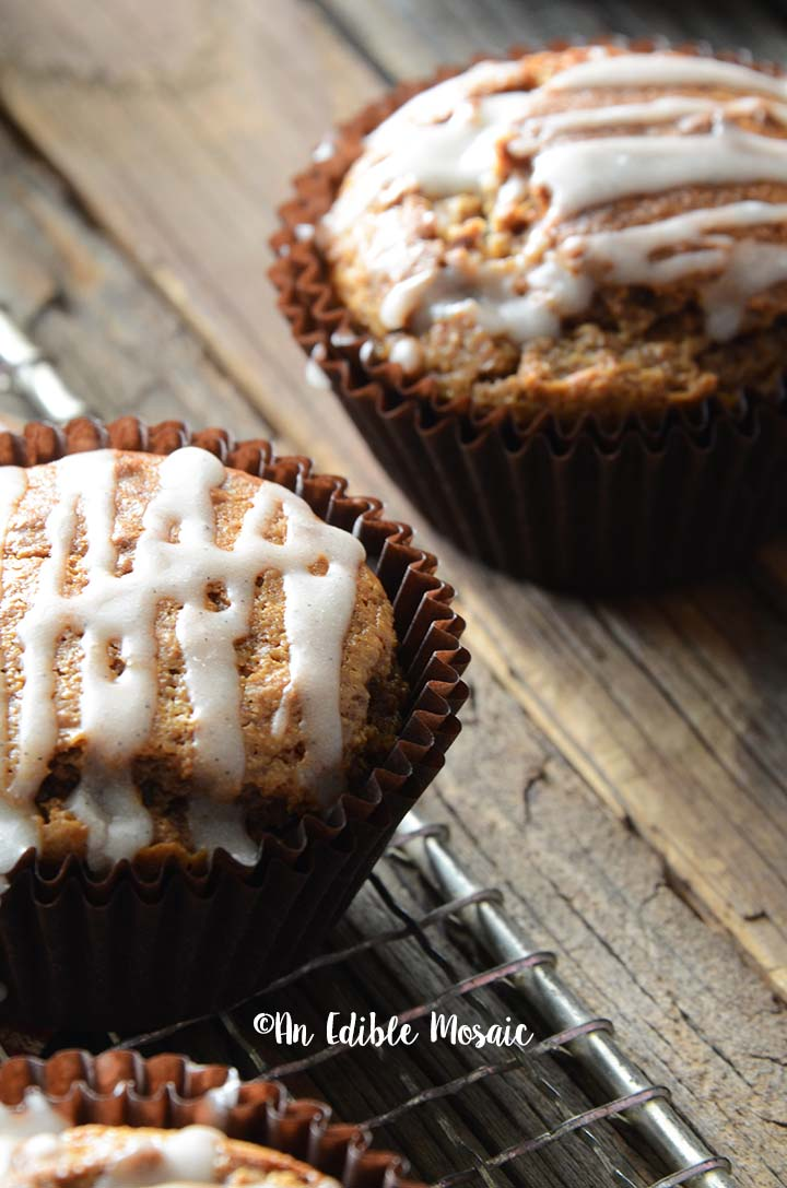 Close Up Front View of Ginger Spice Muffins