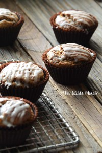 Gingerbread Muffins on Wooden Table