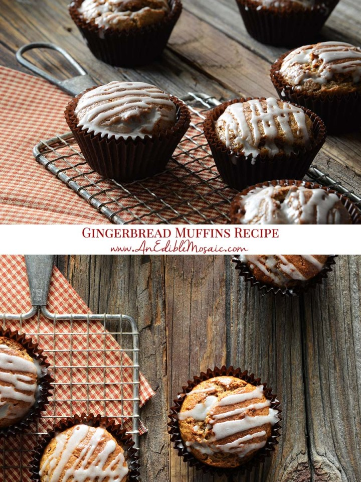 Gingerbread Muffins Recipe Pinnable Image