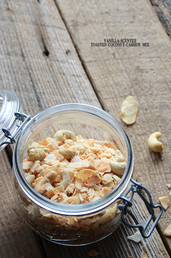 Vanilla-Scented Toasted Coconut-Cashew Mix