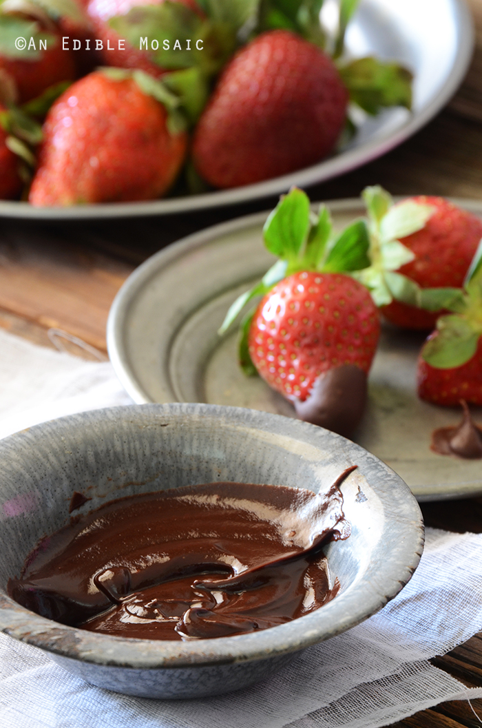 2-Ingredient Dark Chocolate Fondue {Paleo} 2