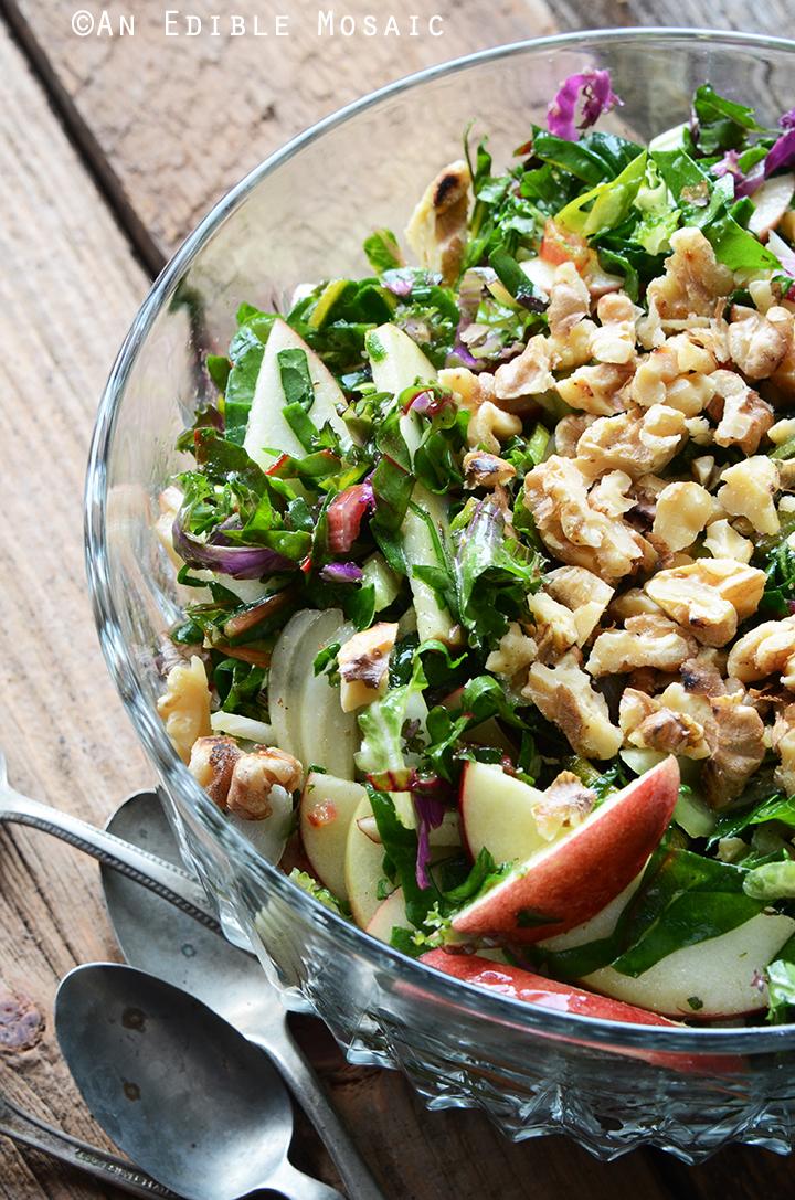 Apple-Walnut Rainbow Chard Salad Recipe 2