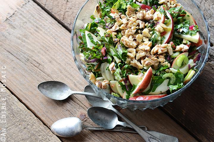 Apple-Walnut Rainbow Chard Salad Recipe 3