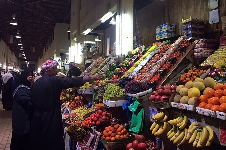 Produce Stand at Souk Al Mubarakiya