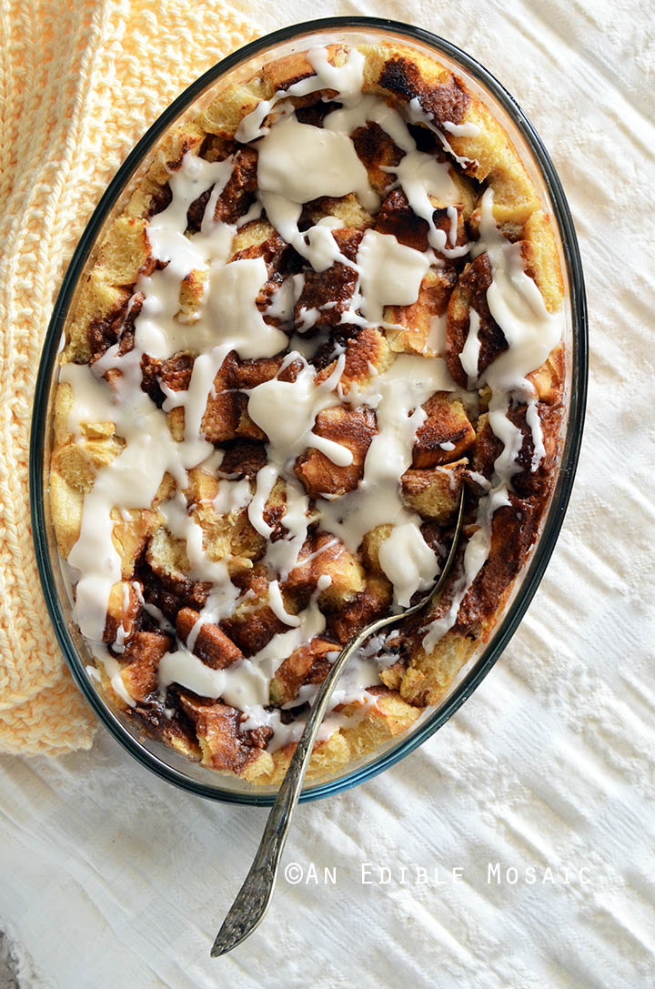 Cinnamon Bun Bread Pudding Recipe 1