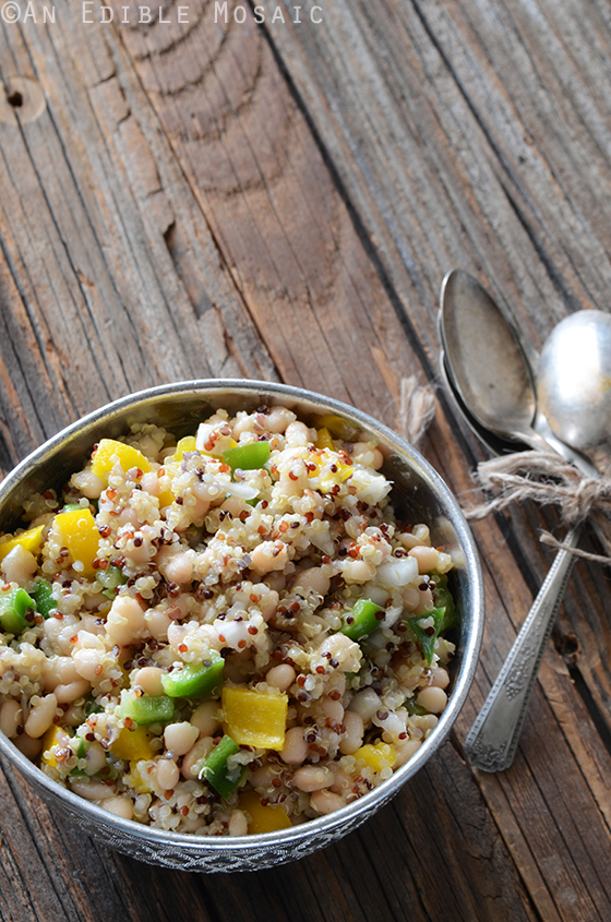Tri-Color Quinoa, White Bean, and Bell Pepper Salad 2