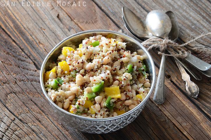 Tri-Color Quinoa, White Bean, and Bell Pepper Salad 3