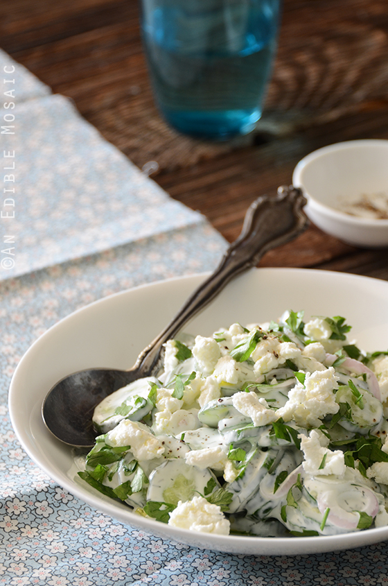 Creamy Cucumber Salad with Goat Cheese and Dill 3