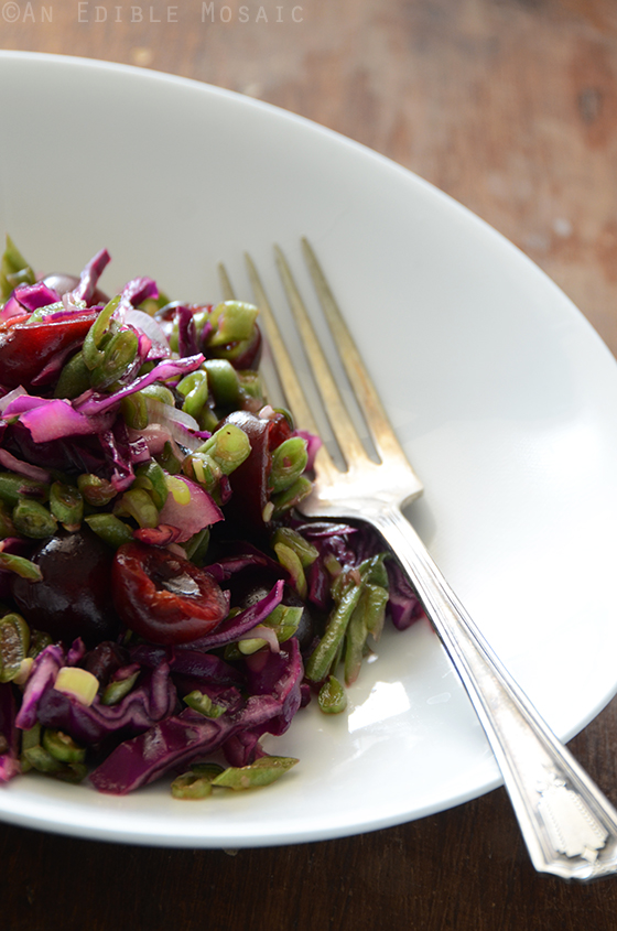 Green Bean Slaw with Cabbage, Cherries, and Lemonade Dressing 2
