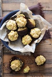 Savory Spiced Sour Cream Zucchini Muffins