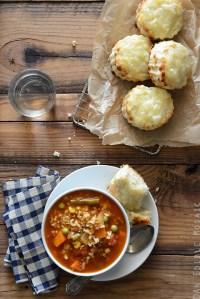 Vegetable Beef Alphabet Soup
