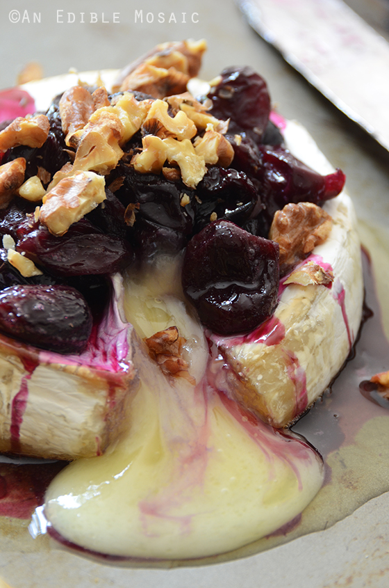 Baked Brie with Warm Honeyed Grapes and Walnuts 2