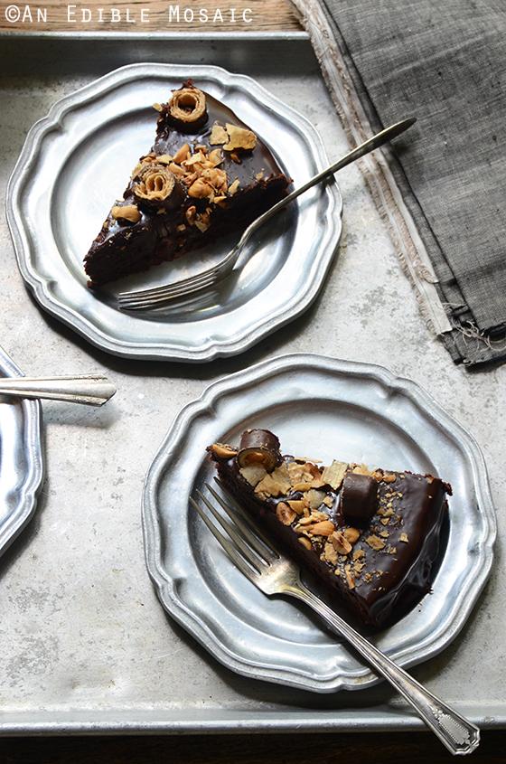 Flourless Chocolate Pear Hazelnut Cake with Bahlsen Waffeletten 5