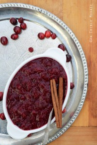 Cinnamon and Ginger-Spiced Cranberry-Orange Sauce {Crazy for Cranberry}