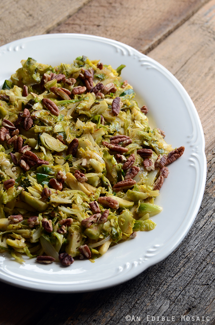 10-Minute Warm Maple-Dijon Brussels Sprout Salad with Pecans