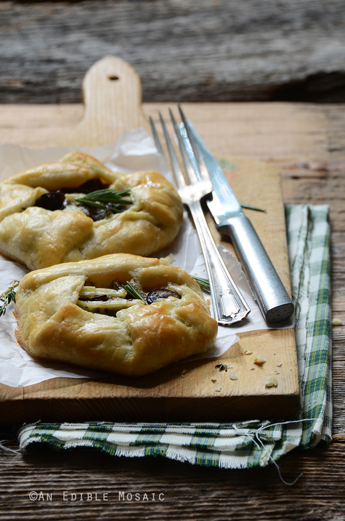 Individual Rosemary and Thyme Mushroom Galettes with Triple Crème Brie