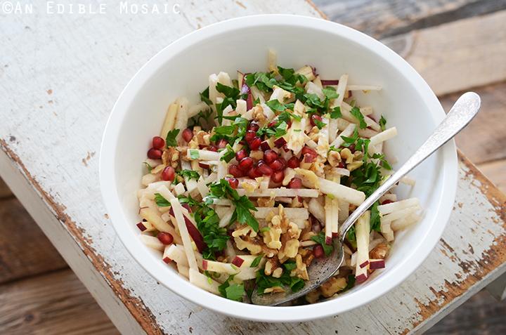 Jicama, Apple, and Pomegranate Salad with Raspberry-Dijon Vinaigrette 3