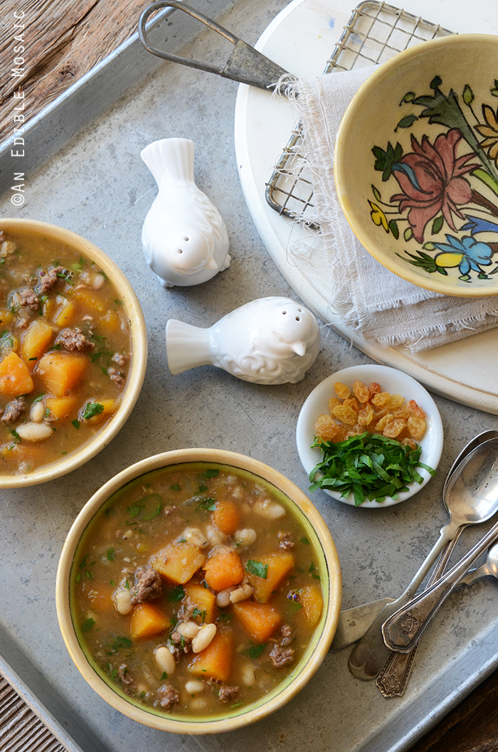 Sweet and Spicy Beef, Butternut, and White Bean Stew