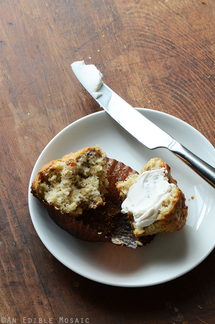 Oatmeal Golden Raisin Muffins with Cream Cheese Glaze {Vegan} 4