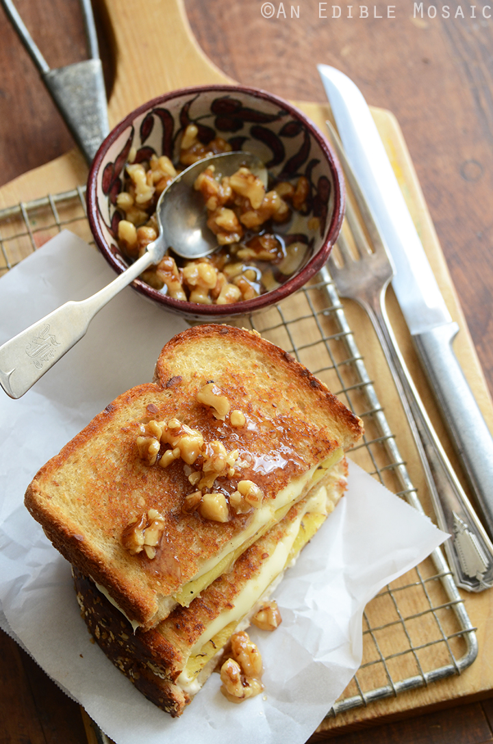 Caramelized Pineapple Grilled Cheese with Honeyed Walnuts 2