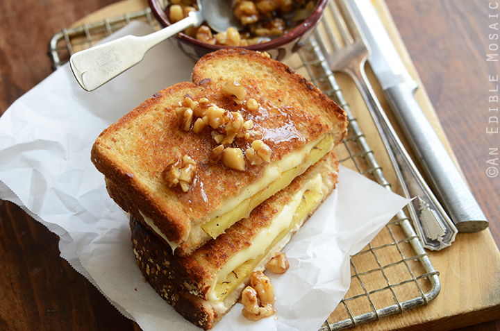 Caramelized Pineapple Grilled Cheese with Honeyed Walnuts 4