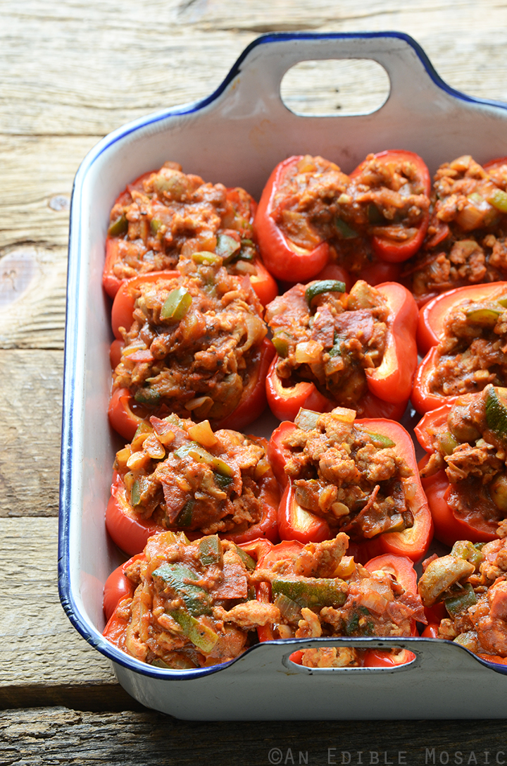 Pizza Stuffed Peppers 2