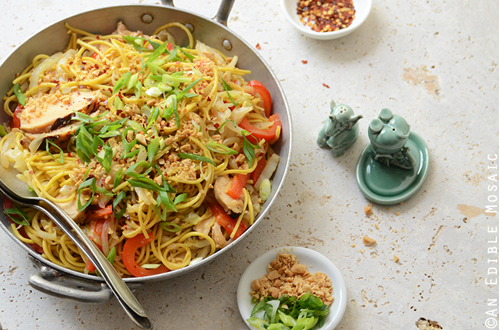 Thai-Inspired Soy Sauce Noodles with Vegetables and Chicken 4