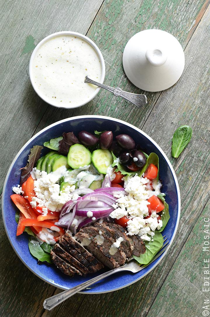 Greek Salad Bowls with Spiced Lamb Burgers 3