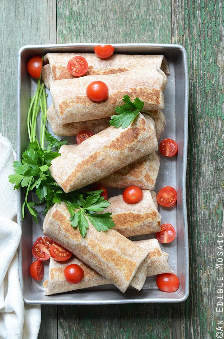 Cheesy Refried Bean Burritos 2