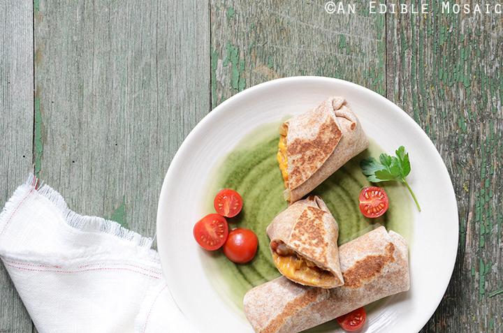 Cheesy Refried Bean Burritos 5