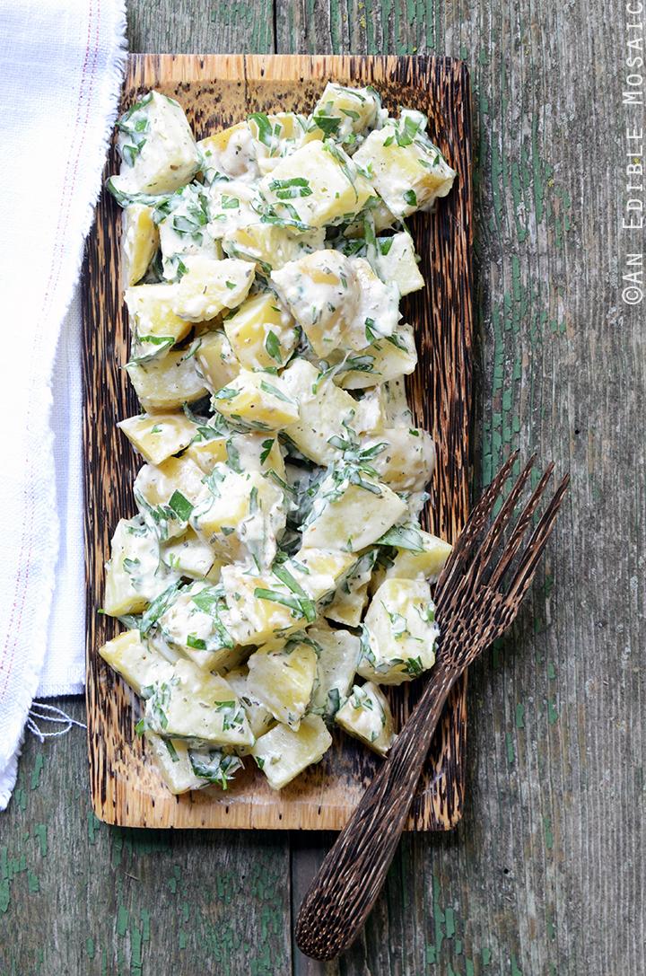 Creamy Dijon Potato Salad with Herbes de Provence 1