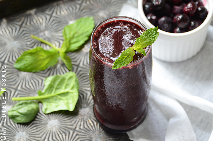 Minted Blueberry Balsamic Smoothie 4