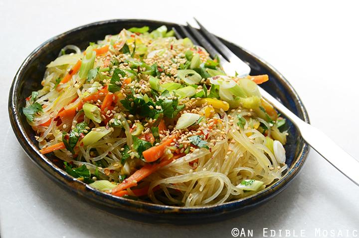 Sesame-Soy Arrowroot Noodles with Stir-Fried Vegetables 3
