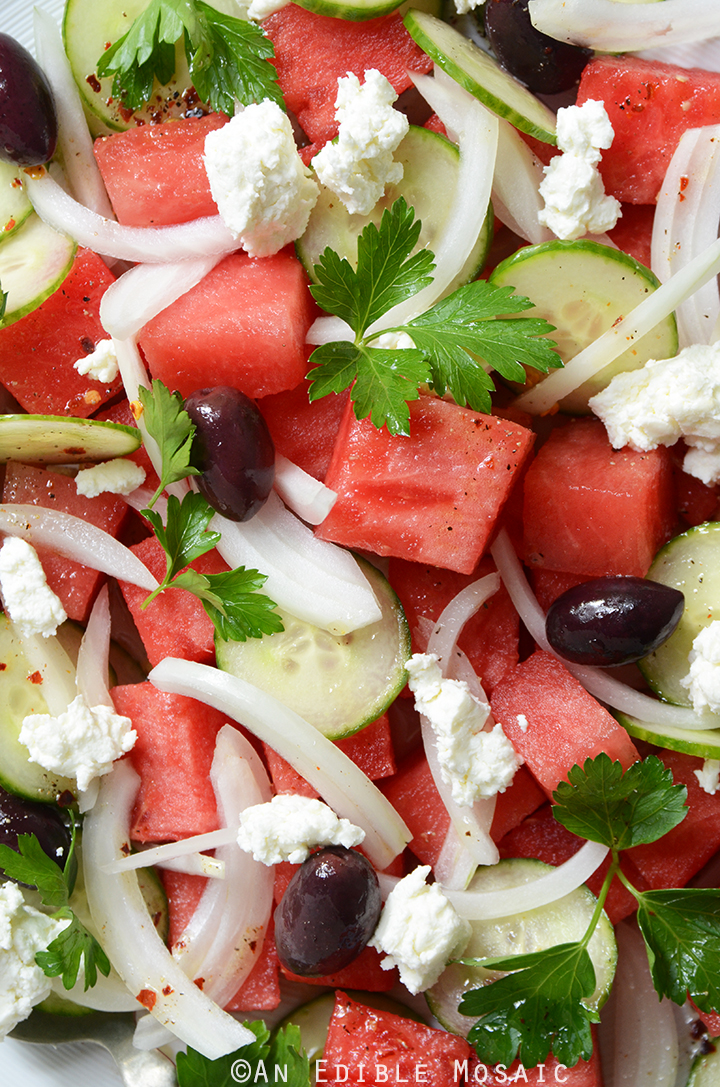 Watermelon Salad with Sweet and Spicy Vinaigrette 2