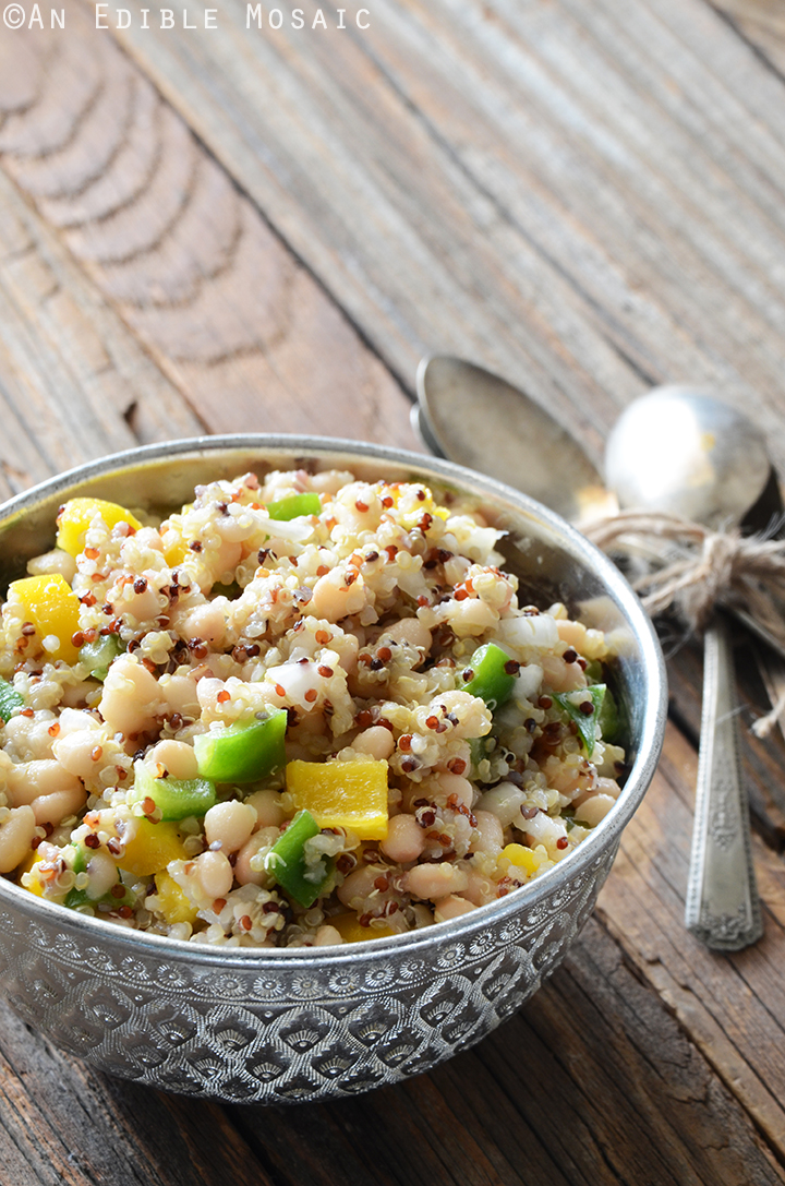 Tri-Color Quinoa, White Bean, and Bell Pepper Salad