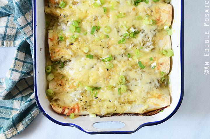 Creamy Chicken and Kale Enchiladas with Salsa Verde 5