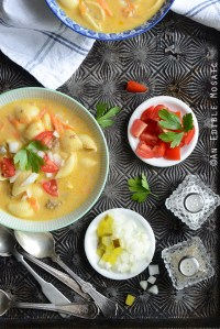 Macaroni and Cheeseburger Vegetable Soup