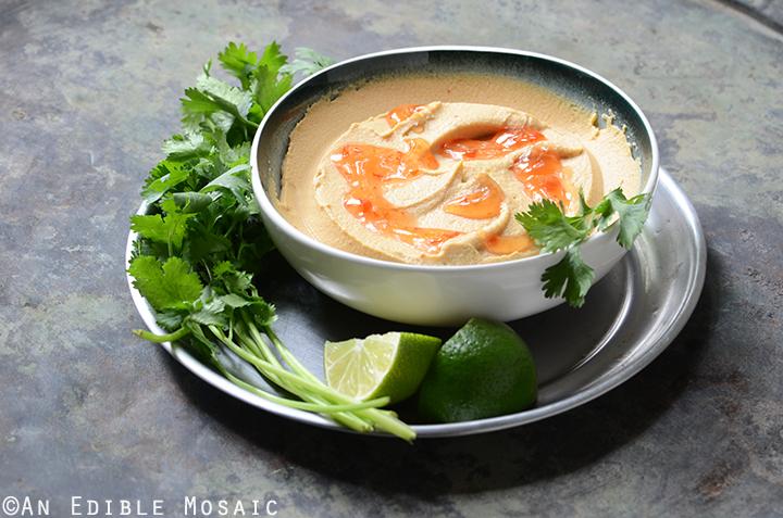 Peanutty Thai Curry Hummus 4