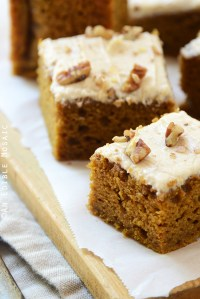 Pumpkin Spice Latte Snack Cake with Brown Butter Buttercream
