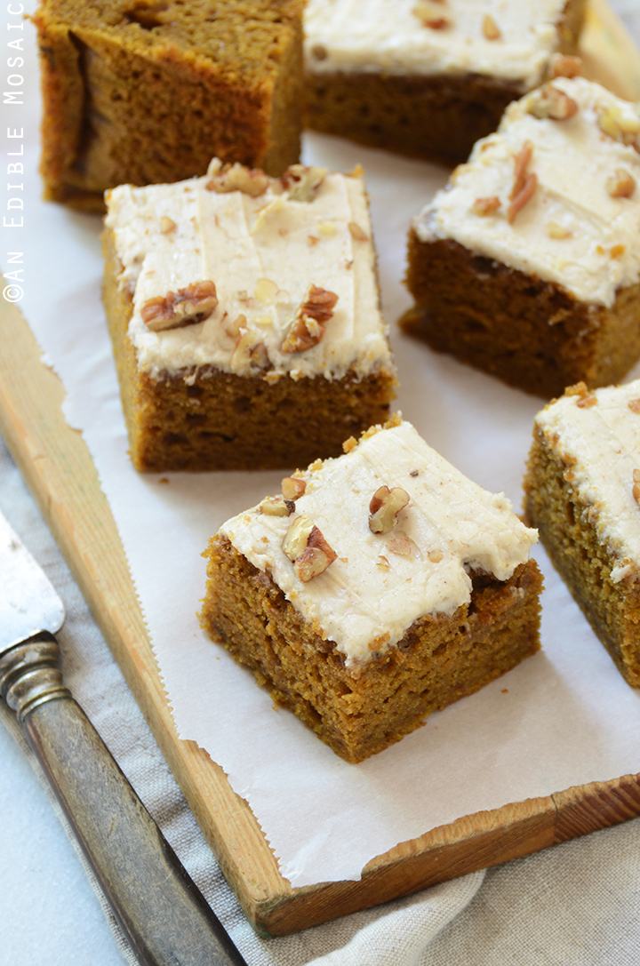Pumpkin Spice Latte Snack Cake with Brown Butter Buttercream 4
