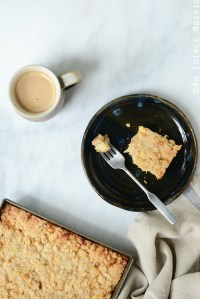 Streusel-Topped Apple Cinnamon Custard Cake